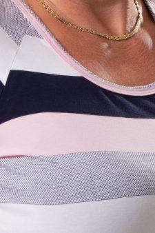 púder rózsaszín csíkos póló