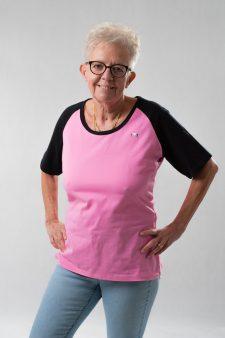 Rózsaszín-fekete póló
